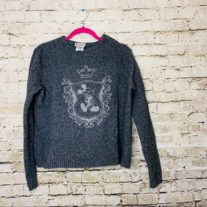 Mickey Mouse 100% Lambswool Grey Sweater